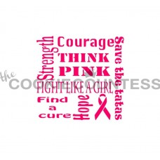 Cancer Awareness Stencil