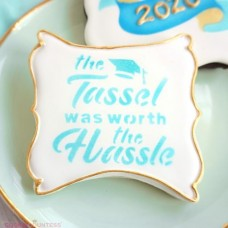 The Tassel Was Worth the Hassle Stencil from the Cookie Countess