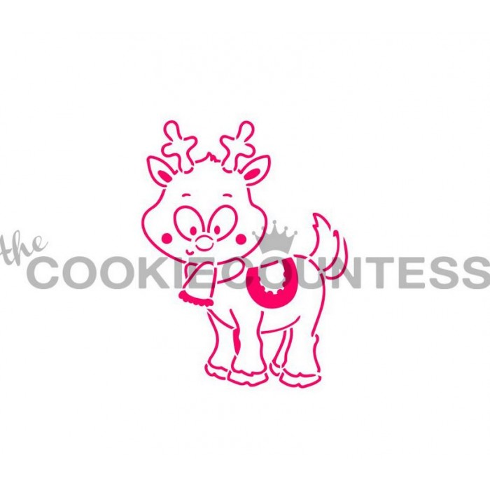 Drawn with character - Reindeer Stencil PYO