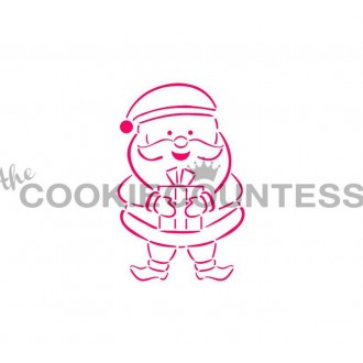 Drawn with character - Santa Stencil PYO