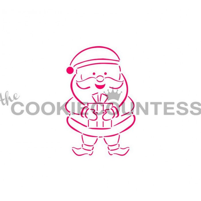 Drawn with character -Santa Stencil PYO
