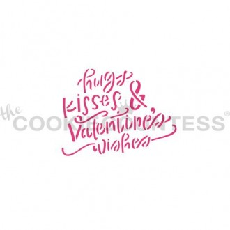 Hugs Kisses & Valentine's Wishes Stencil