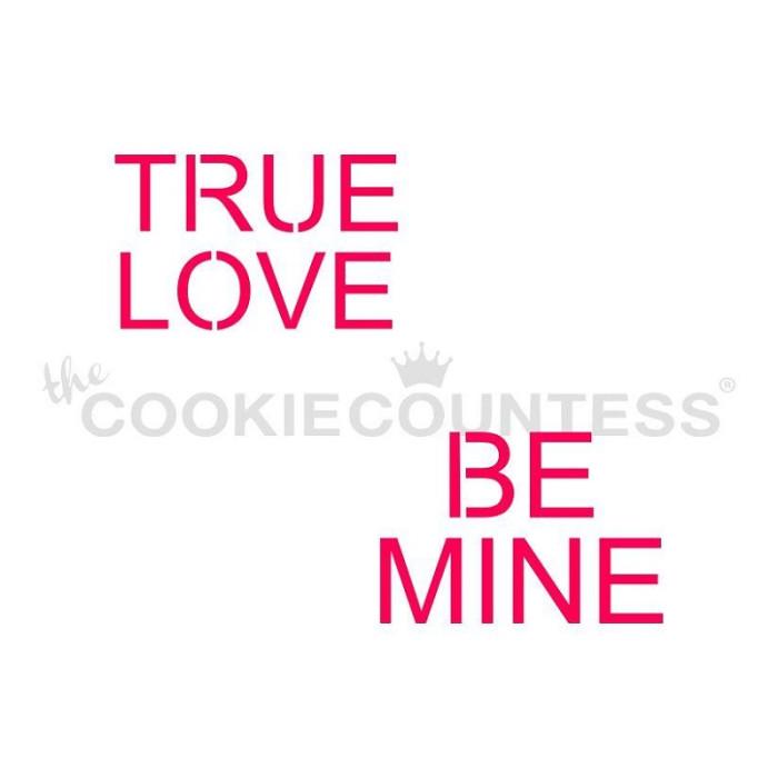 3-Piece Conversation Hearts  Valentine's Day stencil