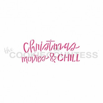 Christmas Movies and Chill Stencil