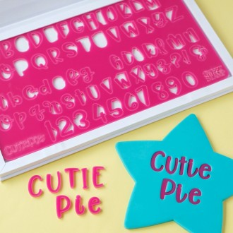 Sweet Stamp - Cutie pie - Uppercase, Lowercase, Numbers & Symbols (MEDIUM)