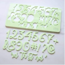 Sweet Stamp - Curly Set Numbers  (LARGE)