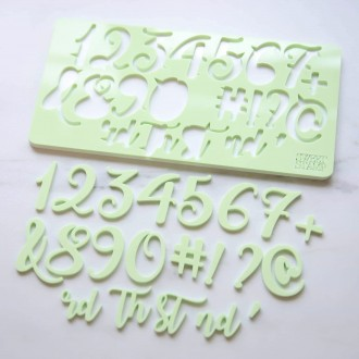 Sweet Stamp - Curly Set Numbers
