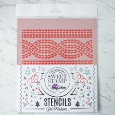 SweetStamp Stencil - Cable Knit