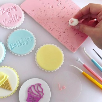 Sweet Stamp - Vanilla Set Uppercase, Lowercase, Numbers & Symbols (SMALL)