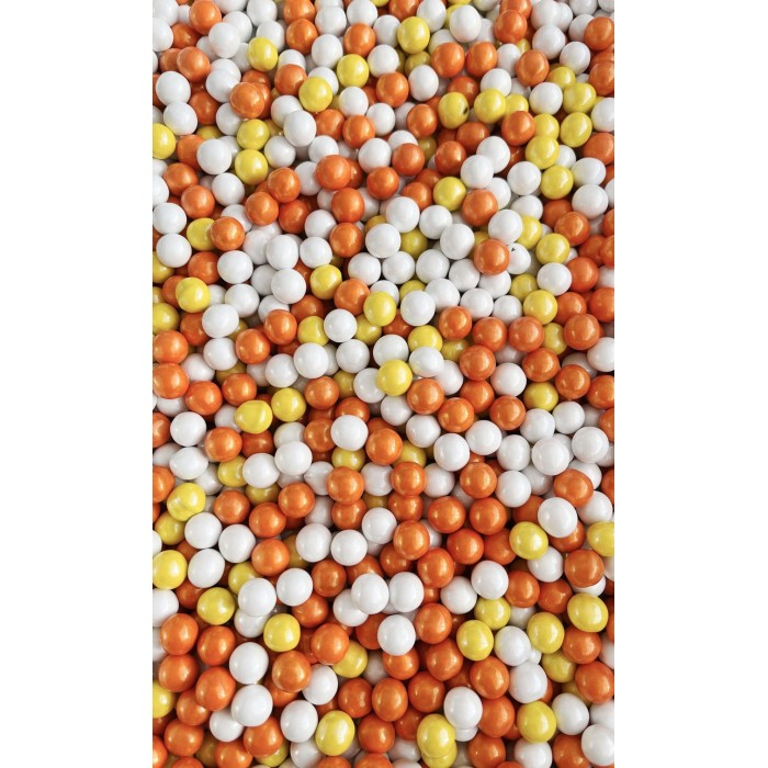 CANDY CORN Candy Coated Balls from Sweetapolita 4oz Bottle (1/2 cup/NET WT 3.4oz/100g)  kOSHER, Gluten-Free