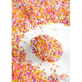 SPRINGTIME RAINBOW Crunchy Sprinkles™ from Sweetapolita 4oz Bottle (1/2 cup/NET WT 3.5oz/100g)  Gluten-Free, Vegetarian & Vegan