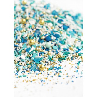 BEACH GLASS Twinkle Sprinkle Medley from Sweetapolita 4oz Bottle (1/2 cup/NET WT 3.5oz/100g)
