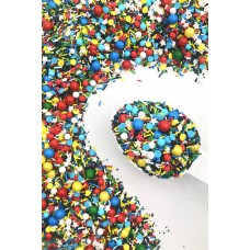 COMIC BOOK Sprinkle Medley from Sweetapolita 4oz Bottle (1/2 cup/NET WT 3.5oz/100g) GLUTEN-FREE, KOSHER & VEGETARIAN