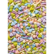 WHAT'S THE SCOOP? Matte Sugar Shapes from Sweetapolita 4oz Bottle (1/2 cup/NET WT 3.5oz/100g)
