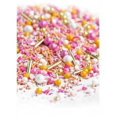 PRETTY AS A PEACH Sprinkle Medley from Sweetapolita 4oz Bottle (1/2 cup/NET WT 3.5oz/100g)