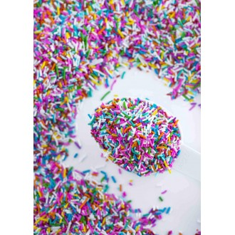 RAINBOW Crunchy Sprinkles™ from Sweetapolita 4oz Bottle (1/2 cup/NET WT 3.5oz/100g)  Gluten-Free, Vegetarian & Vegan