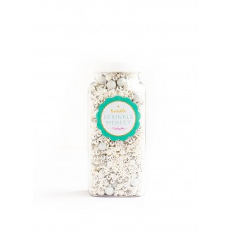 WEDDING CAKE Twinkle Sprinkle Medley from Sweetapolita 4oz Bottle (1/2 cup/NET WT 3.5oz/100g)