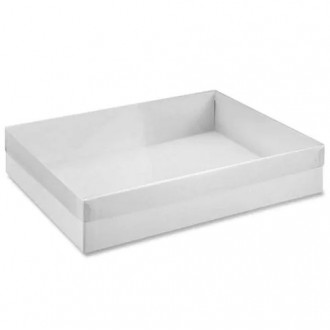 Clear Cover White Box Cookie Box (10*7*2) Pick Up only