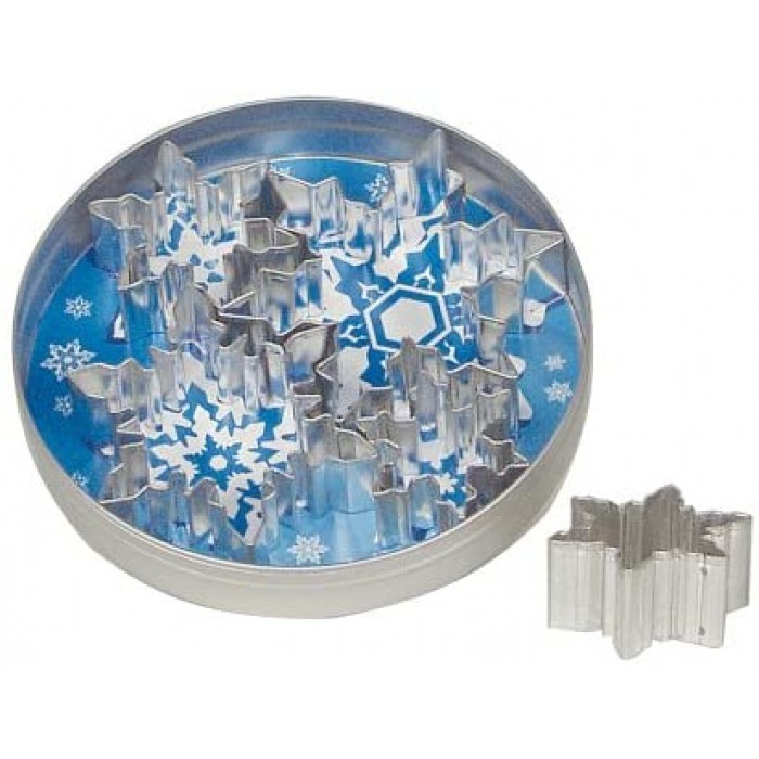Snowflake Cookie Cutter Set, Stainless Steel, 5-Piece