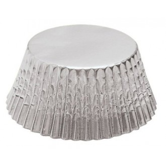 Foil Mini Bake Cups Silver (Quantity 48)