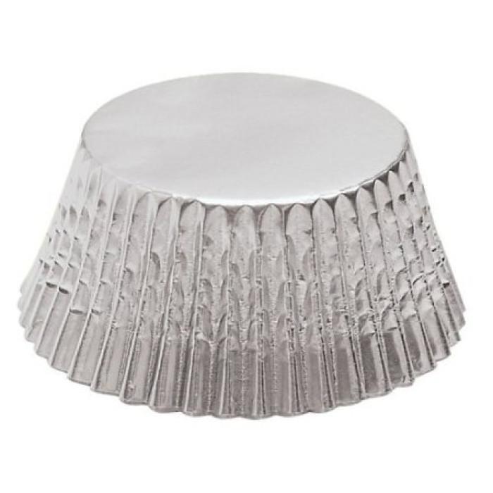 Foil Mini Bake Cups Silver (Quantity 45)