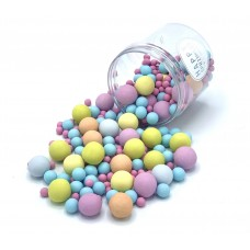 Happy Sprinkles Bubble Colors Gum Choco Crunch Sprinkles  (135gr)