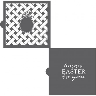 Happy Easter to You - Background and Message Cookie Stencil