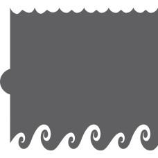 Wave Cookie Stencil Edger