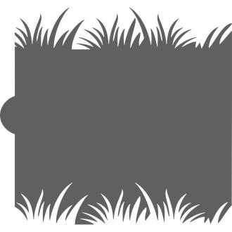 Grass Cookie Stencil Edger