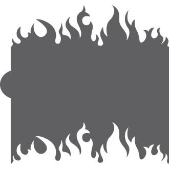 Flames Cookie Stencil Edger