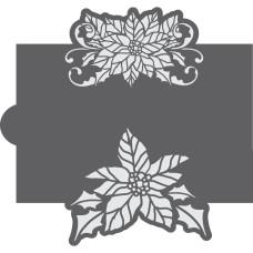 Poinsettia Cookie Stencil Edger