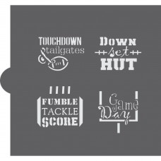 Football Basic Words Cookie Stencil
