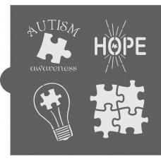 Autism Awarness Cookie Stencil
