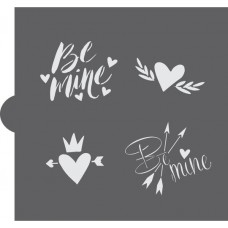 Be Mine Cookie Stencil