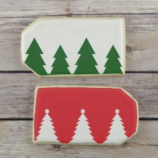 Christmas Trees Cookie Stencil Edger