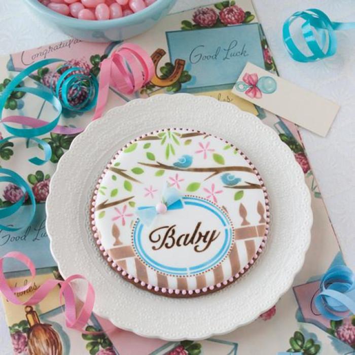 Baby 2 Prettier Plaques Cookie Stencil 5 Pc Set