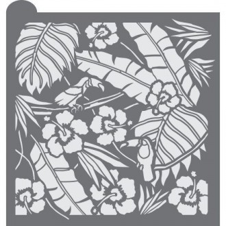 Tropical Opulence Prettier Plaques Background Cookie Stencil