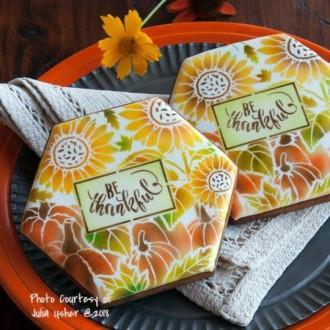 Autumn Harvest Prettier Plaques Cookie Stencil 5 Pc Set