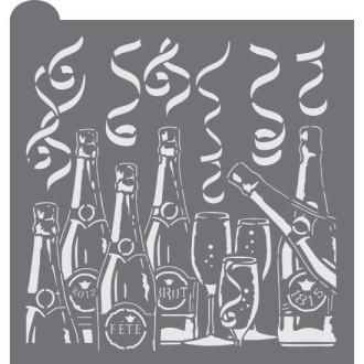 Champagne Dreams Prettier Plaques Background Cookie Stencil