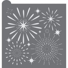 Fireworks Display Prettier Plaques Background Cookie Stencil