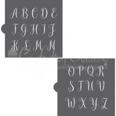 Amaretti Script Monogram Cookie Stencil Set