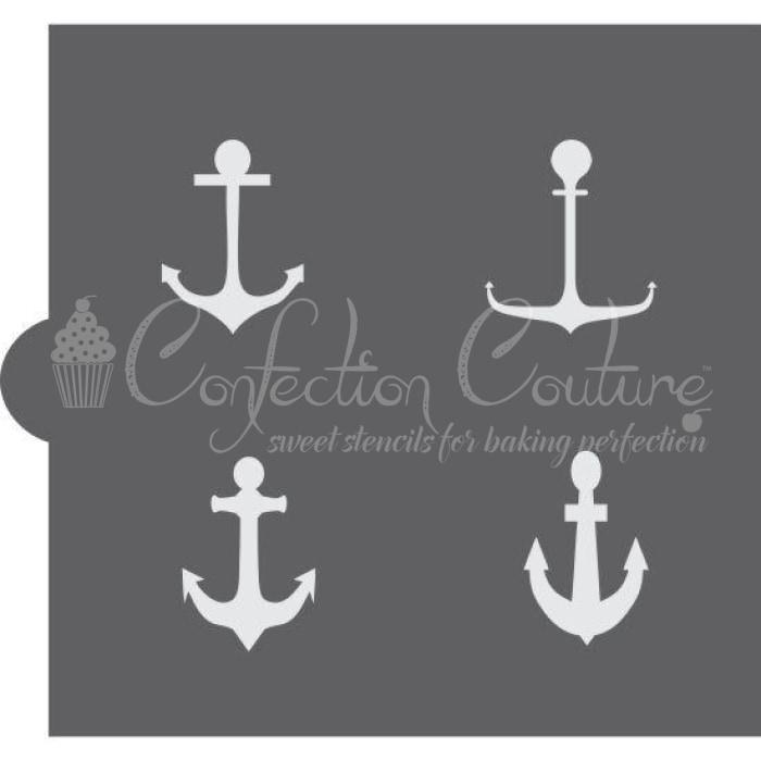 Anchors Accent Cookie Stencil
