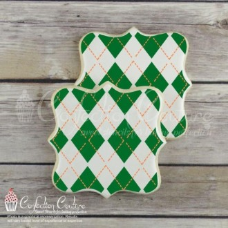 Argyle 2 Overlay Background Cookie Stencil