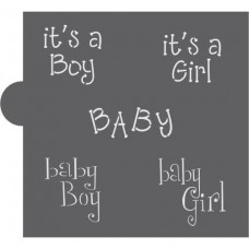 Baby Basic Words Cookie Stencil