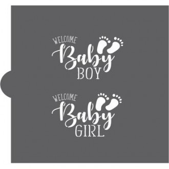 Welcome Baby Cookie Stencil