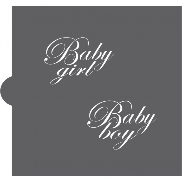 Baby Boy and Girl Cookie Stencil