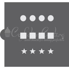 Basic Shapes Paint Palette Cookie Stencil