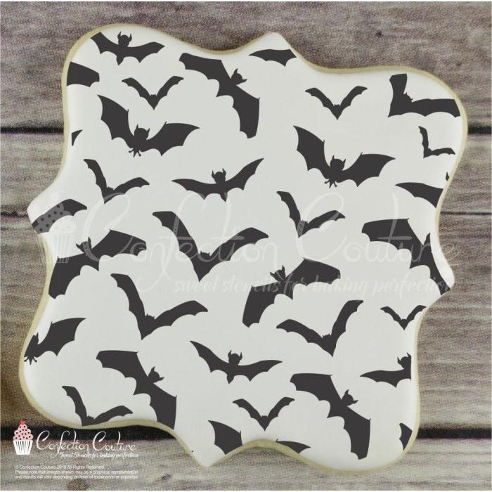 Bats Background Cookie Stencil