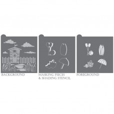 Beach Cabana Dynamic Duos Cookie Stencil Set 6 Pc Set