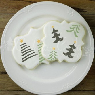Christmas Trees Accent Cookie Stencil